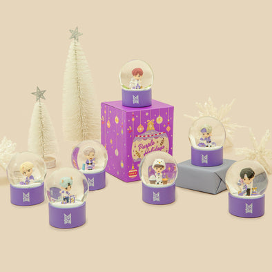 COKODIVE BTS POP-UP : SPACE OF BTS - TINYTAN PURPLE HOLIDAY SNOWBALL