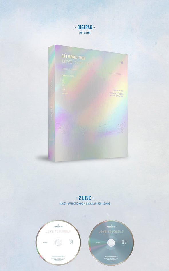 COKODIVE BTS - WORLD TOUR LOVE YOURSELF EUROPE DVD Blu-ray