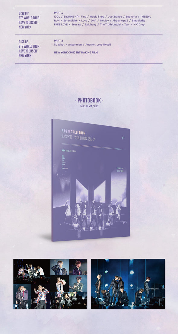 COKODIVE Copy of BTS - WORLD TOUR LOVE YOURSELF NEWYORK DVD Blu-ray