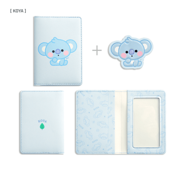 COKODIVE KOYA BT21 X MONOPOLY BABY LEATHER PATCH CARD CASE