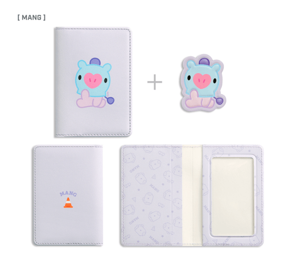 COKODIVE MANG BT21 X MONOPOLY BABY LEATHER PATCH CARD CASE