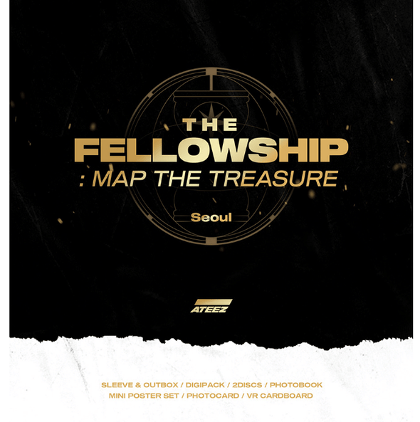 COKODIVE [PRE-ORDER] ATEEZ WORLD TOUR THE FELLOWSHIP  MAP THE TREASURE SEOUL DVD