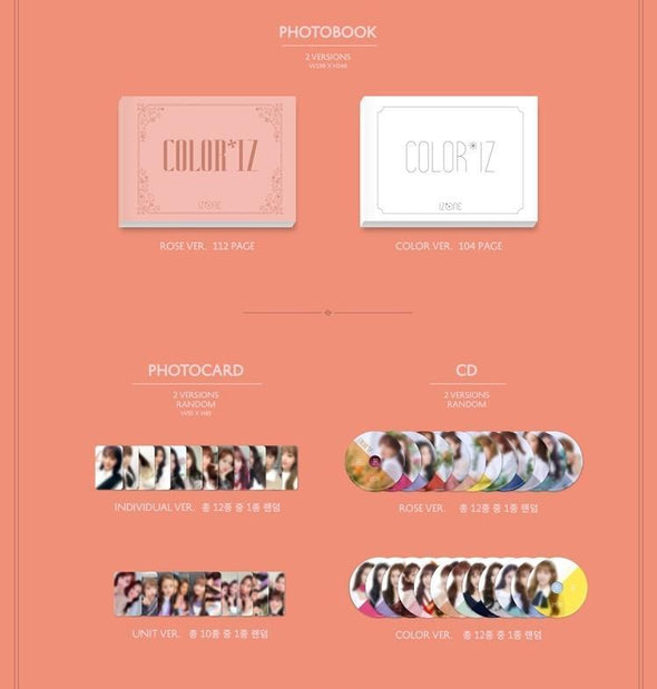 COKODIVE [PRE-ORDER] IZ*ONE - 1ST MINI ALBUM [COLOR*IZ] RE-RELEASE