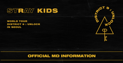 COKODIVE [PRE-ORDER] STRAY KIDS WORLD TOUR DISTICT 9 : UNLOCK IN SEOUL OFFICIAL MD