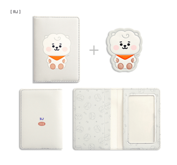 COKODIVE RJ BT21 X MONOPOLY BABY LEATHER PATCH CARD CASE