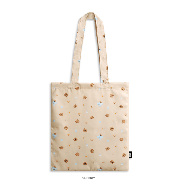 COKODIVE SHOOKY BT21 X MONOPOLY BABY PATTERN ECO BAG