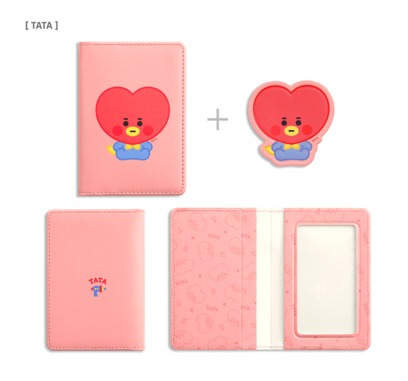 COKODIVE TATA BT21 X MONOPOLY BABY LEATHER PATCH CARD CASE