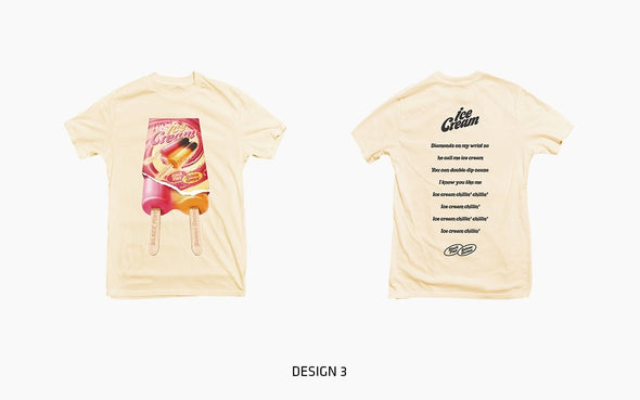COKODIVE TYPE1_DESIGN 3 / M [PRE-ORDER] BLACKPINK - OFFICIAL MD [ICECREAM] 2ND CLOTHES LINE