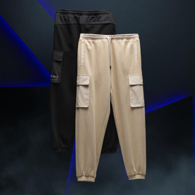 FILA BEIGE 80 BTS X FILA PROJECT 7 CLOTHES : CARGO JOGGER PANTS
