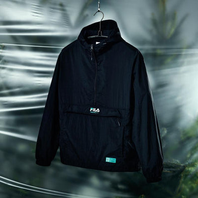 FILA BTS X FILA PROJECT 7 BACK TO NATURE CLOTHES : BLACK ANORAK JACKET