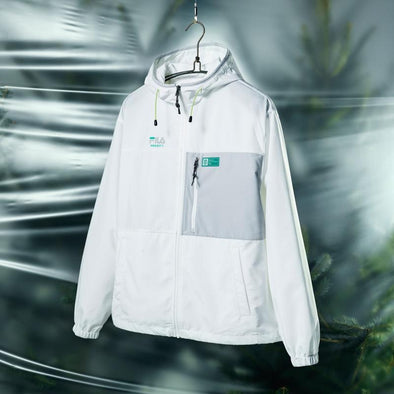 FILA BTS X FILA PROJECT 7 BACK TO NATURE CLOTHES : PACKABLE JACKET (OFF WHITE)