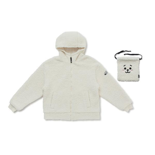 LINE FRIENDS BT21 FLEECE HOODIE ZIP-UP JACKET