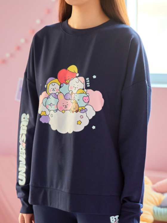 LINE FRIENDS NAVY / S BT21 BABY A DREAM OF BABY LOUNGE WEAR SET