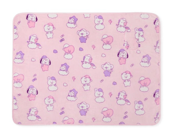 LINE FRIENDS PINK BT21 BABY A DREAM OF BABY BLANKET