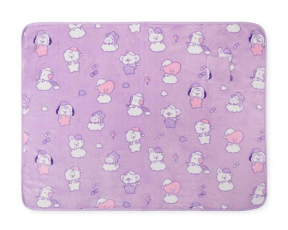 LINE FRIENDS PURPLE BT21 BABY A DREAM OF BABY BLANKET