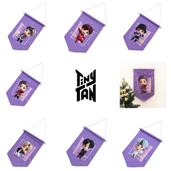 NARA HOME DECO ALL Members BTS TINYTAN FABRIC FLAG