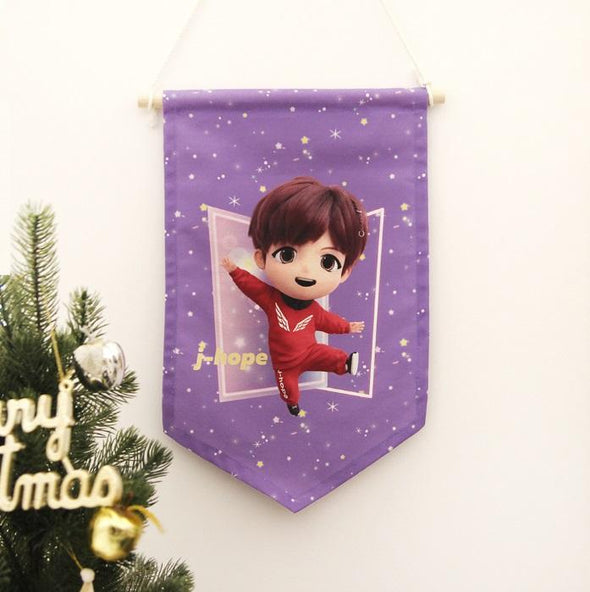 NARA HOME DECO J-HOPE BTS TINYTAN FABRIC FLAG