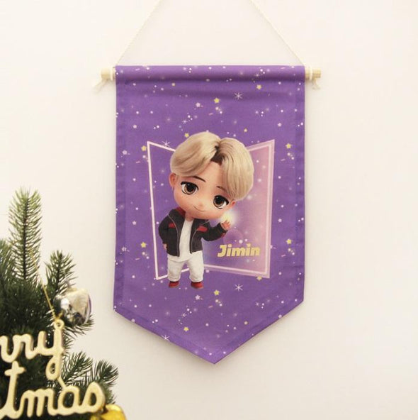 NARA HOME DECO JIMIN BTS TINYTAN FABRIC FLAG