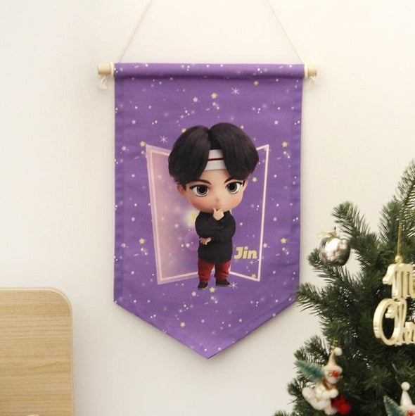 NARA HOME DECO JIN BTS TINYTAN FABRIC FLAG