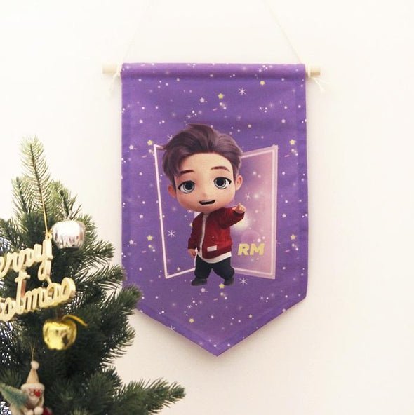 NARA HOME DECO RM BTS TINYTAN FABRIC FLAG