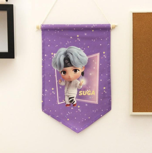 NARA HOME DECO SUGA BTS TINYTAN FABRIC FLAG