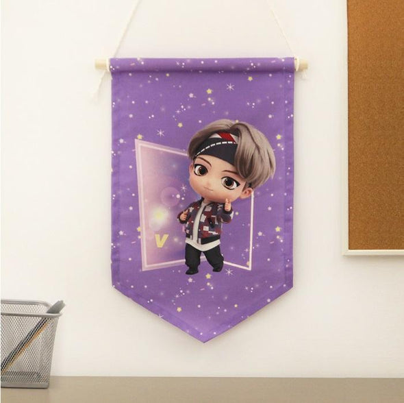 NARA HOME DECO V BTS TINYTAN FABRIC FLAG
