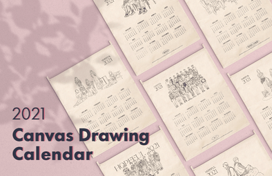 SMTOWN&STORE [PRE-ORDER] SM - 2021 CANVAS DRAWING CALENDAR