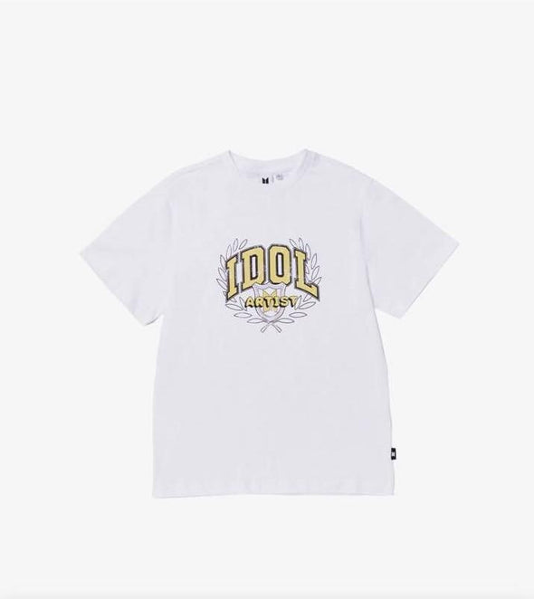 Weverse Shop 09 White (IDOL) / M BTS POP-UP : MAP OF THE SOUL - VARSITY S/S TEE