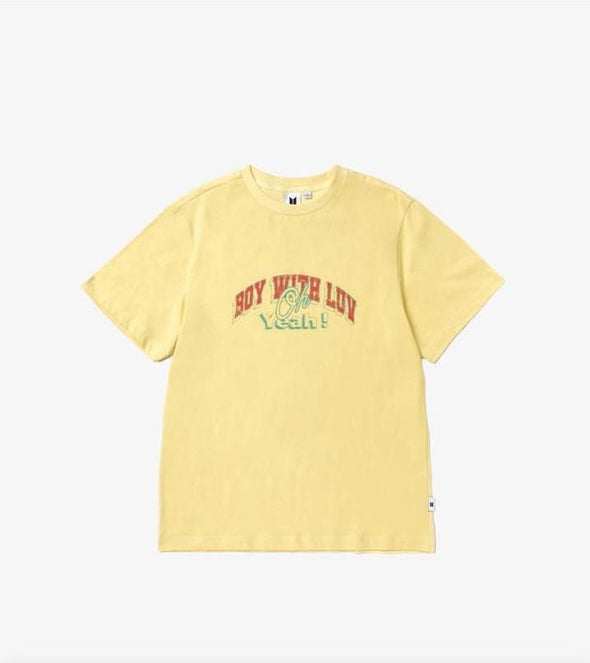 Weverse Shop 10 Yellow / M BTS POP-UP : MAP OF THE SOUL - VARSITY S/S TEE