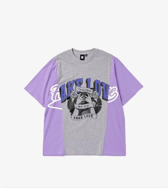 Weverse Shop 17 Gray Purple / M BTS POP-UP : MAP OF THE SOUL - VARSITY S/S TEE