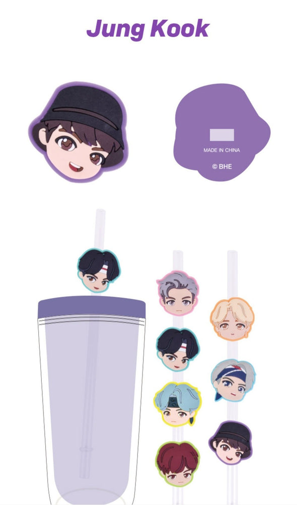 Weverse Shop BIG FACE STRAW DECO MASCOT 7PCS SET [PRE-ORDER] BTS TINYTAN NEW MD NOVEMBER