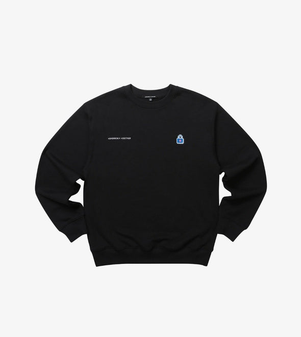 Weverse Shop BLACK SWEATSHIRT 02 M [PRE-ORDER] TXT BLUE HOUR OFFICIAL UNIFORM