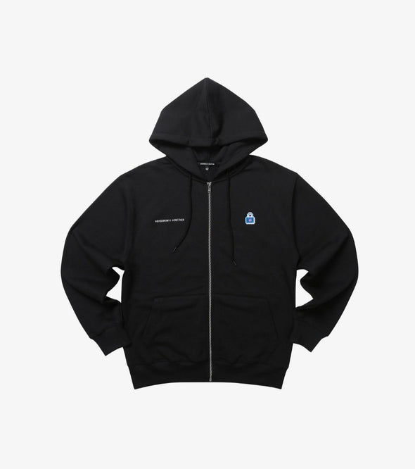 Weverse Shop BLACK ZIP UP HOODY 01 M [PRE-ORDER] TXT BLUE HOUR OFFICIAL UNIFORM