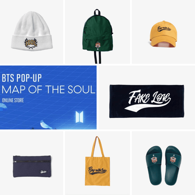 Weverse Shop BTS POP-UP : MAP OF THE SOUL - VARSITY ACCESSORIES