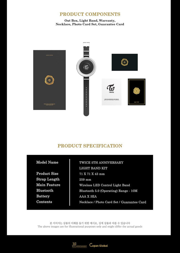 WITHDRAMA [PRE-ORDER] TWICE - 5TH ANNIVERSARY MD [LIGHT BAND KIT]