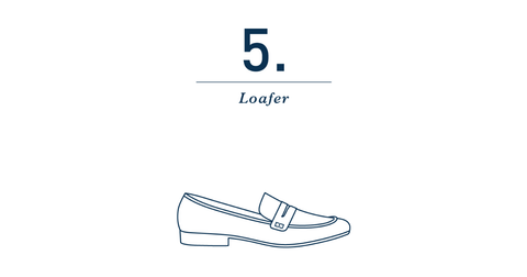 mens slip on loafers outline