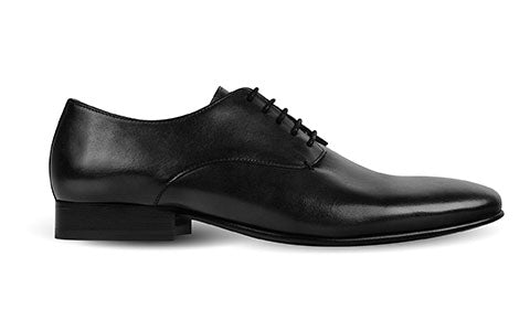 cobb london black leather derby shoe side view