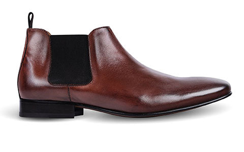 cobb london brown leather chelsea boot side view