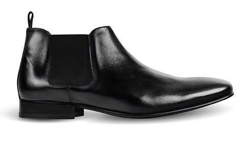cobb london black leather chelsea boot side view