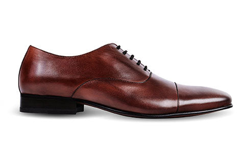 cobb london brown leather oxford shoe side view