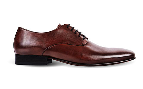 cobb london brown leather derby shoe side view