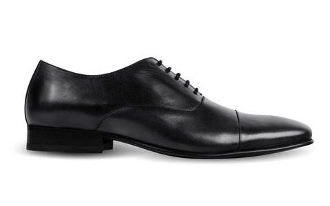 cobb london black leather oxford shoe side view