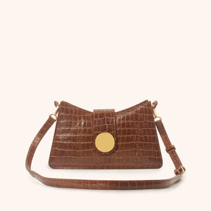 Baguette <span>Croco Embossed Leather Cognac</span>/Delivery End April