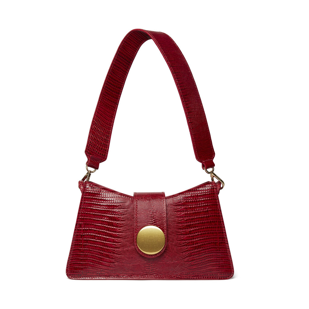 Baguette <span>Lizard Embossed leather Red</span>/ Delivery Mid-May