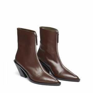 Eclair Zipper Boots Leather <span>Brown</span>