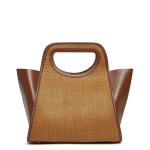 Cupidon Medium Raffia Brown/Cognac