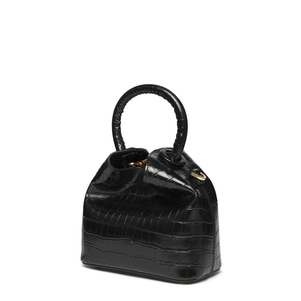 Madeleine <span>Croco Embossed Leather Black</span>