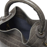 Madeleine <span>Croco Embossed Leather Grey</span>