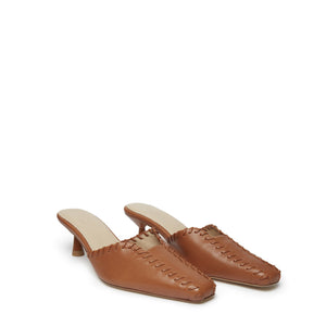 Mules Stitch <span>Brown