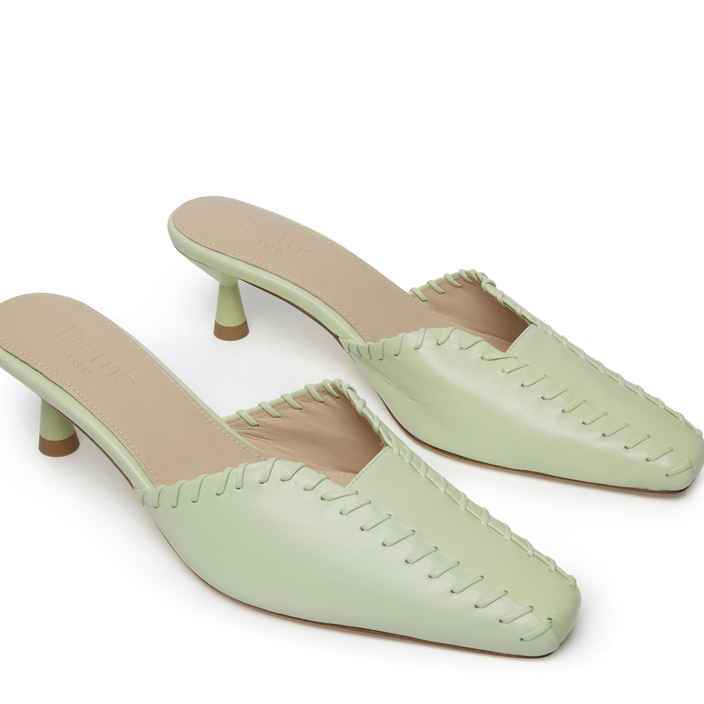 Mules Stitch Green